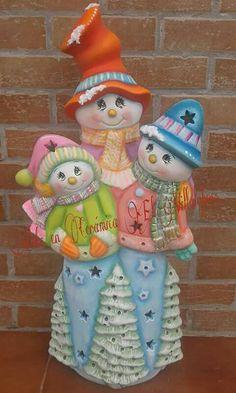 Ceramic Bisque, Xmas, Christmas Ornaments, Snowmen, Crochet Toys, Vintage Christmas, Winter, Biscuit, Nova