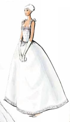 Oleg Cassini wedding gown with feminine bows as a shoulder accent.