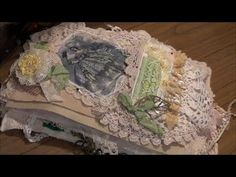 Fabric/Lace/Doiley Book Part 1 - Page Construction - YouTube