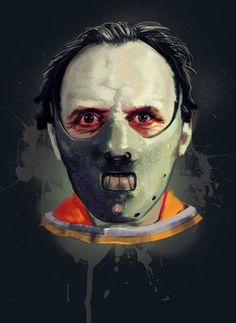 "Horror Movie Art : The Silence Of The ""Hannibal"" by @ deviantart Hannibal Lecter, Hannibal Mask, Horror Icons, Horror Art, Scary Movies, Horror Movies, Sir Anthony Hopkins, Slasher Movies, Chef D Oeuvre"