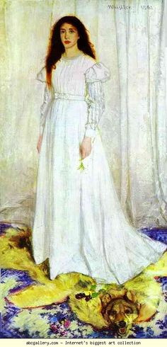 James Abbott McNeill Whistler. Symphony in White No. 1: The White Girl. 1862. Oil on canvas. National Gallery of Art, Washington, DC, USA.