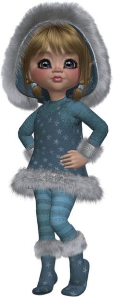 Tube png cookie : hiver - Poser doll - Posertuben : winter