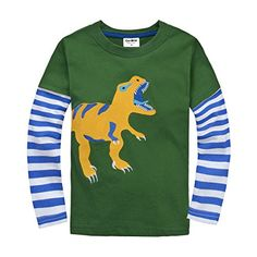 IGOLong Sleeve Baby boys clothing infant toddler Dinosaur Tshirts CG25T2 >>> Check out the image by visiting the link.Note:It is affiliate link to Amazon.