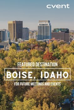 Meeting planners consistently come away from their experiences in Boise, Idaho with a sense of surprise. This smaller but incredibly vibrant city has a range of options for visitors, who also report how easy it is to get around in the safe and friendly downtown. Event Planning Tips, Meeting Planner, Boise Idaho, The Incredibles, Explore, City, Planners, Vibrant, Range