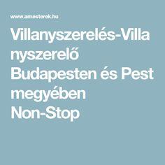 Villanyszerelés-Villanyszerelő Budapesten és Pest megyében Non-Stop