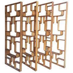 4 Halabala room dividers | From a unique collection of antique and modern screens at https://www.1stdibs.com/furniture/more-furniture-collectibles/screens/