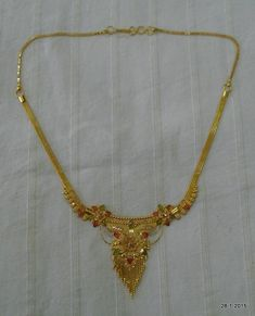 Items similar to vintage antique gold necklace choker traditional jewelry on Etsy Gold Chain Design, Gold Ring Designs, Gold Earrings Designs, Gold Jewellery Design, Necklace Designs, Gold Wedding Jewelry, Bridal Jewelry Sets, Gold Jewelry, Gold Bangles