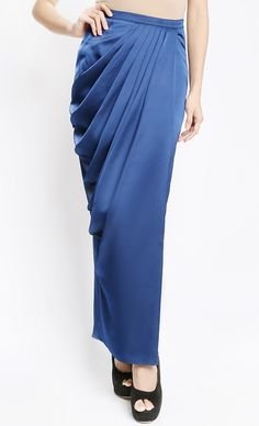 Issoria Draped Skirt in Blue