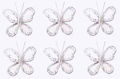 "Butterfly Decor 2"" White Mini (X-Small) Glitter Butterflies 6pc set. Decorate for a Baby Nursery Bedroom, Girls Room Ceiling Wall Decor, Wedding Birthday Party, Bridal Baby Shower, Bathroom. Decoration for Crafts, Scrapbooks, Invitations, Parties Bugs-n-Blooms http://www.amazon.com/dp/B000XJDQ4U/ref=cm_sw_r_pi_dp_0Ihsub1FNT81K"