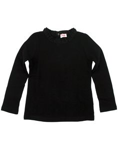 Longsleeve t-shirt with pleated ribbon collar