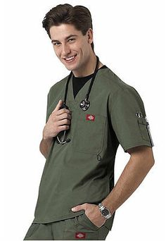 Dickies Medical Gen Flex Olive Men's Utility Top Sz S-XXL NWT | eBay