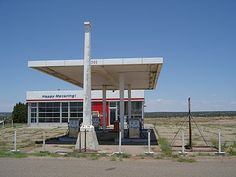 Happy Motoring! On US Route 66, Glenrio, on the Texas-New Mexico border