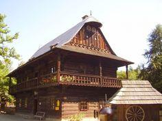 Skanzen Rožnov pod Radhoštěm - Dřevěné městečko (Skanzen) • Mapy.cz Vernacular Architecture, Traditional House, Czech Republic, Castles, Folk, Cottage, Country, House Styles, Check
