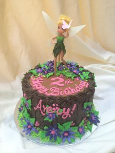 Tinkerbell forest tree stump Cake by Inphinity Designs