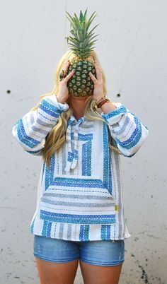 Baja Hoodie Drug Rug Mexican Poncho Pullover by MexicanThreads