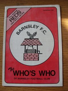 dec-1980 barnsley: the who's who of barnsley the super reds oakwell news (faint from $5.66