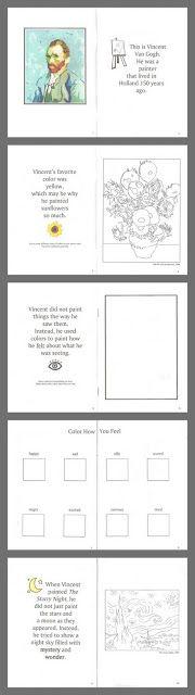 Relentlessly Fun, Deceptively Educational: Starry Night Printable Book & Art (Van Gogh Study)