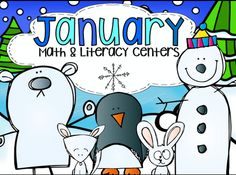 January Math and Literacy Centers is full of hands on activities that will help build and reinforce reading and number sense skills!