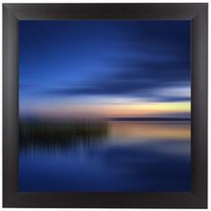 "East Urban Home Scenery Finland Sunset by Melanie Viola Framed Graphic Art Size: 12"" H x 12"" W x 1"" D"