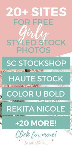 This blog post has more than 20 sites where you can free styled stock photos! Definitely one to save AND bookmark! #blogger #stockimage