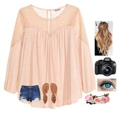 """Lydia's contest day 7"" by agrava ❤ liked on Polyvore featuring H&M, Billabong, Topshop, Eos and lydhcontestsummer"