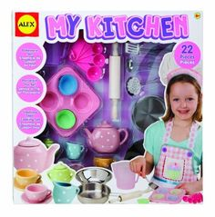 Alex Toys My Kitchen Set - Amazon Exclusive by Alex. $29.99. Amazon.com                REVIEW: Alex Toys has the recipe for imaginative play with the My Kitchen Set, a 22-piece cooking collection sized for small hands. Made with stainless steel, porcelain, and plastic--just like real cookware--this charming set provides the essentials for aspiring cooks, bakers, and entertainers. Kids aged eight and older will love whipping up their own pretend meals and even preparing food on...