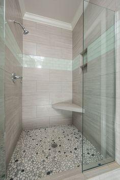 Custom tiled master shower. Glass Shower, Bathroom, Master Shower, Bathroom Makeover, Flipping Houses, Remodel, New Bathroom Ideas, Tile Bathroom, Shower Tile