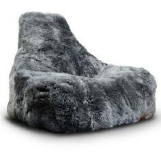 Fur Bean Bag (Grey)