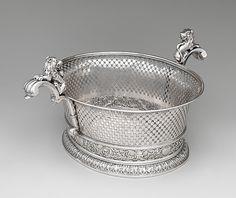 *Basket: John Edwards II (British, active 1723–ca. 1753) Date: 1731/32 Culture: British, London Medium: Silver