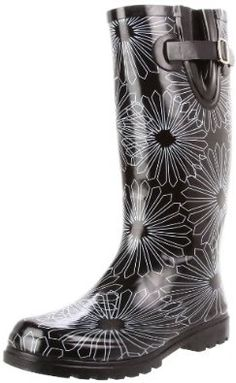 Nomad Women's Puddles Rain Boot or Snow Boot! Rain Gear, Daisy, Turquoise, Color Negra, Shoe Sale, Black Boots, Just In Case, Rubber Rain Boots, Me Too Shoes