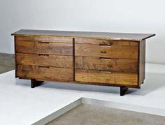 PHILLIPS : GEORGE NAKASHIMA Free-edge eight-drawer cabinet, c. 1958
