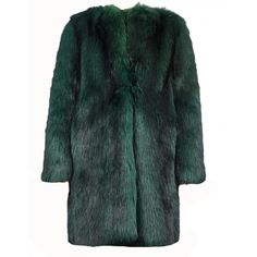 Dries Van Noten 'Reese' Bis Faux Fur Green Coat (78.200 RUB) ❤ liked on Polyvore featuring outerwear, coats, jackets, fur jacket, fake fur coats, dries van noten coat, green coats, dries van noten and faux fur coat