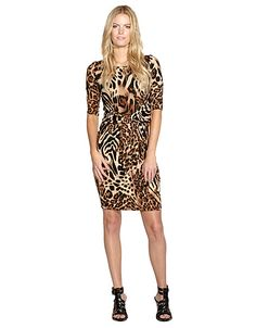 $98 Knotted Three Quarter Dress