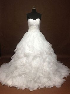starting to love ruffly dresses Sweetheart Ruffled Ball Gown Wedding Dress by IDoCoutureBridal
