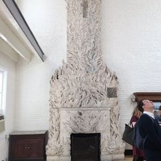 This is the Whitney Studio named a National Treasure in 2014 and just completely restored. This unique fireplace is the focal point of the room -- a former hay loft. by savingplaces