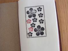 Midori Traveler's Notebook.  Using Rubber Stamps.