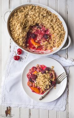 fruit crisp recipe | gluten free, vegan | pinterest @softcoffee