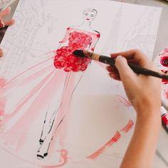 "Kerrie Hess on Instagram: ""Bloom...🌺🌹 . . #video #paint #love"" Kerrie Hess, Bloom, Illustration, Painting, Instagram, Fashion, Moda, Fashion Styles, Painting Art"
