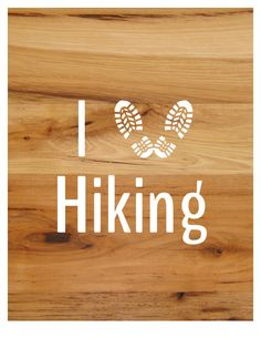 "I Love Hiking Sticker / Decal 6"" x 6"" Vinyl Outdoor Sticker by FreeSpiritandNerds on Etsy"
