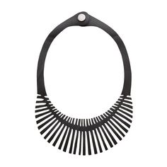 Vegan and eco-friendly Fishbone Statement Necklace made from