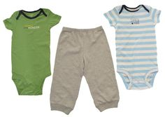 Carters Boys 3 Piece Set 12M Outfit 2 Bodysuits Pants Mommy's Man NEW #Carters #DressyEverydayHoliday