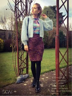 OUTER:snidel SKIRTS:ZARA SHOES:Dr.Martens TOPS:galaxxxy ZARA snidel dr.martens galaxxxy BAG :SELECTE...