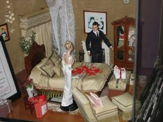 barbie fashion royalty diorama wedding bridal suite   Apthorp Cleaners NYC window display