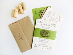 Vineyard wedding invitation suite ~ Harken Press ~ Oh So Beautiful Paper: Brynne + Guy's Modern Vineyard Wedding Invitations