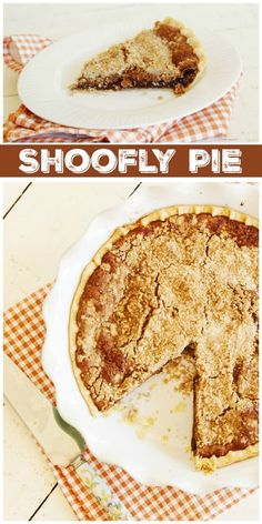 This Shoofly Pie recipe is an old fashioned favorite, classic recipe. It's a brown sugar pie that is perfect for Thanksgiving. Best Dessert Recipes, Pie Recipes, Fun Desserts, Cookie Recipes, Pastry Recipes, Holiday Desserts, Baking Recipes, Shoofly Pie, Brown Sugar Pie