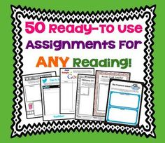 50 Creative & Fun Printable Assignments For Any Short Story or Novel