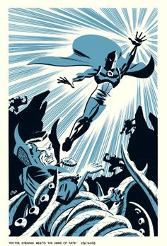 Michael Cho's sketchbook: Doctor Fate meets Doctor Strange