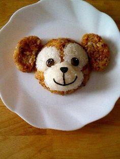 Disney Bear Duffy Onigiri Rice Cake for Bento (Soy Sauce Rice and White Rice, Sliced Soy Quail Egg, Nori)|ダッフィーおにぎり
