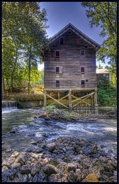 Kymulga Grist Mill, Alabama---near Sylacauga, also a lovely old covered bridge at site.  Lovely Sunday afternoon ride.