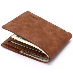 Neue Portfolio Männer Geldbörsen Berühmte Marke Luxus Mans Kleinen Kurzen Dünne Brieftasche Geldbörsen Braun Männliche Carteira Billeteras
